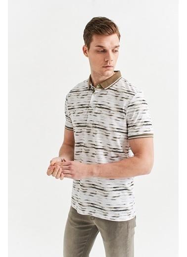 Avva Erkek  Polo Yaka Baskılı Tişört A01Y1001 Bej